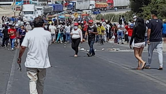 La Libertad: Reportan nuevo bloqueo en Panamericana Norte por la muerte de Jorge Muñoz. (Foto Deyvi Mora/ GEC)