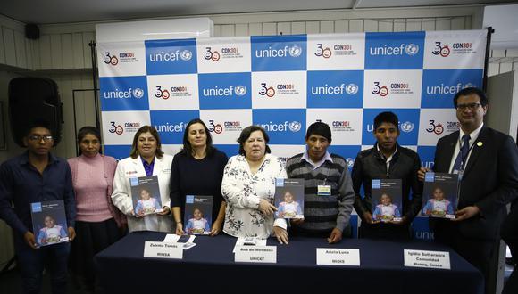Cusqueños. Josué Abdías y Josué Abraham asistieron a la presentación del informe de la Unicef. (Foto: Renzo Salazar/GEC)