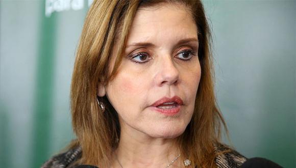 """""""No puede ser que no se hagan los procesos en su contra [de Chávarry] como se deben hacer y en la Subcomisión de Acusaciones Constitucionales se haga larga"""", señaló la vicepresidenta.(Foto: Agencia Andina)"""