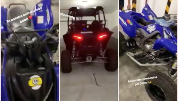 """Alistando mi máquina pal Dakar"", escribió Paolo Guerrero. (Instagram)"