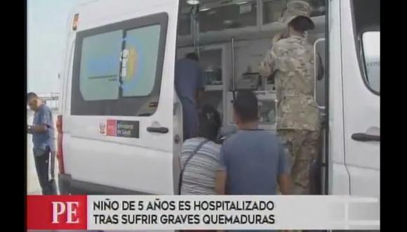 El menor fue trasladado a Lima para ser atendido. (Canal 4)