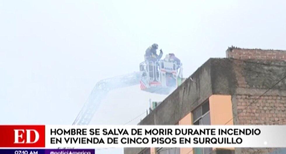 El incendio inició a las 5 a.m. del sábado, indicaron los vecinos de la zona. (América TV)