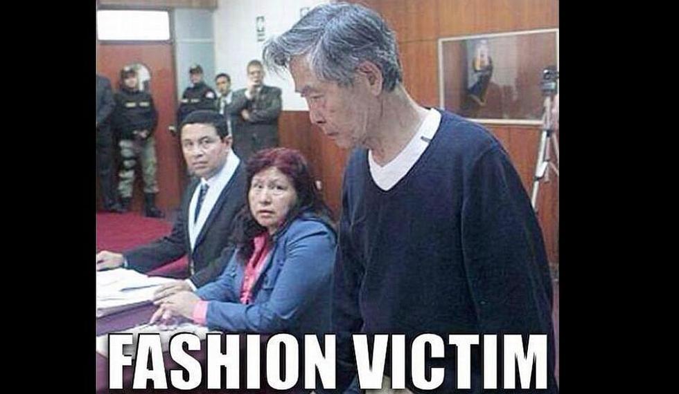 La aparición de Alberto Fujimori en el juicio por el caso de los diarios 'chicha' no tardó en generar las burlas de los internautas. (Internet)