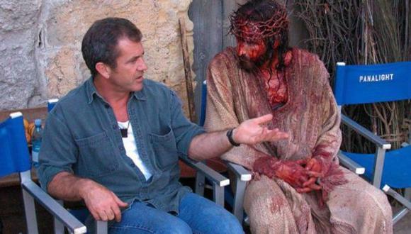 Mel Gibson durante el rodaje de 'La Pasión de Cristo', que se estrenó en el 2004. (laslineastorcidas)