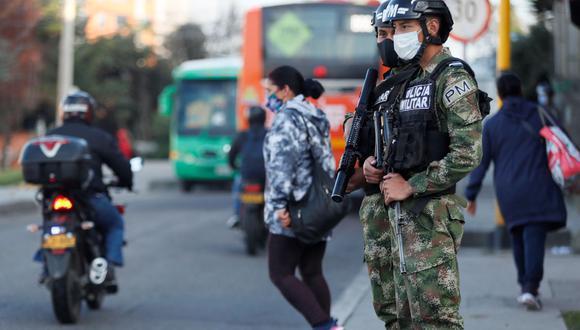 Bogotá, la capital de Colombia, ordenó desde el jueves un confinamiento de cuatro días para contener un incremento de los contagios en la ciudad. (Foto: EFE)