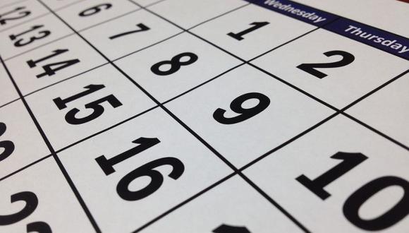 ¿Prefiere feriados o días no laborables? (Foto: Pixabay)