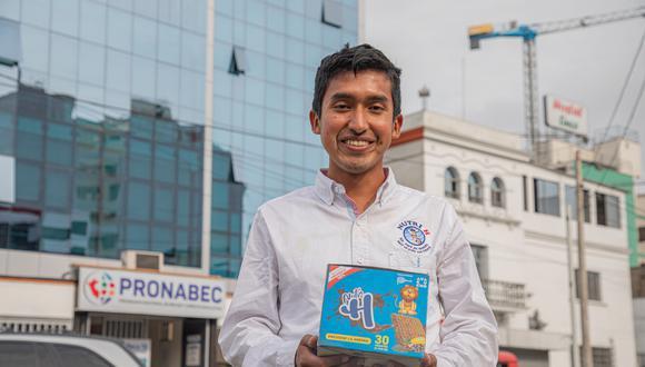 En enero, Julio Garay obtuvo el primer lugar en la iniciativa 'Una idea para cambiar la historia 2019', organizado por History Channel en Latinoamérica. (Foto: Pronabec)