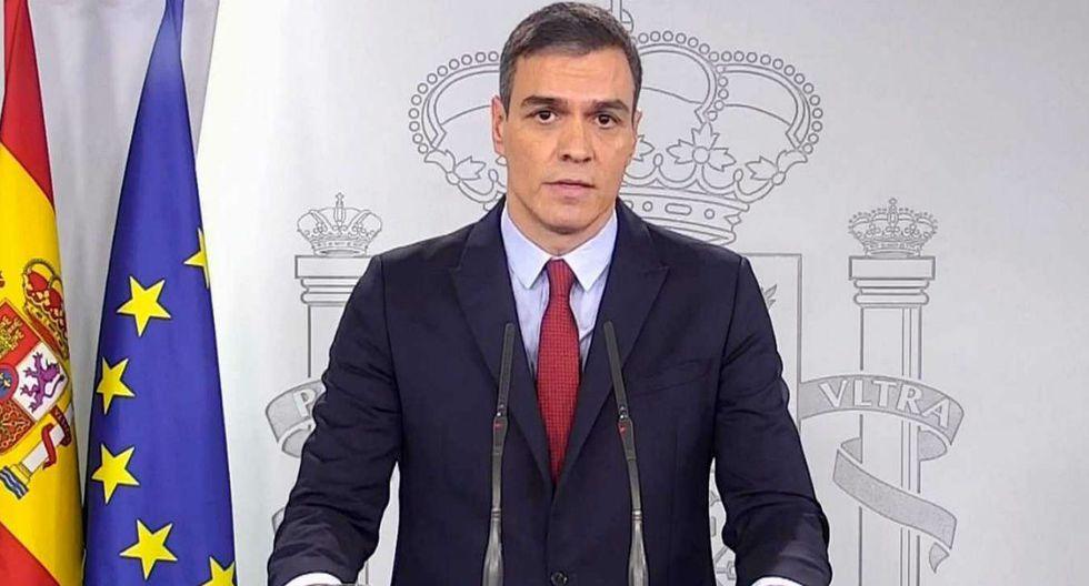 Pedro Sánchez, presidente de Gobierno de España, anunció el estado de alarma en todo el territorio ibérico para evitar la expansión del coronavirus. | Foto: Captura YouTube