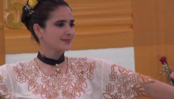 Katiuska del Castillo participó en concurso de marinera al interior del penal. (Perú21)