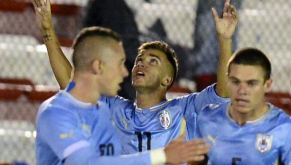Acosta destacó con la Sub 17 y Sub 20 de Uruguay. (Foto: AFP)