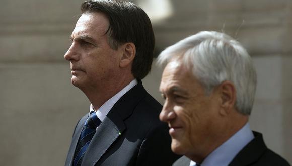 Sebastián Piñera envió ayuda a Jair Bolsonaro para combatir incendios en la Amazonía, con fondos del G7. (Foto: AFP)