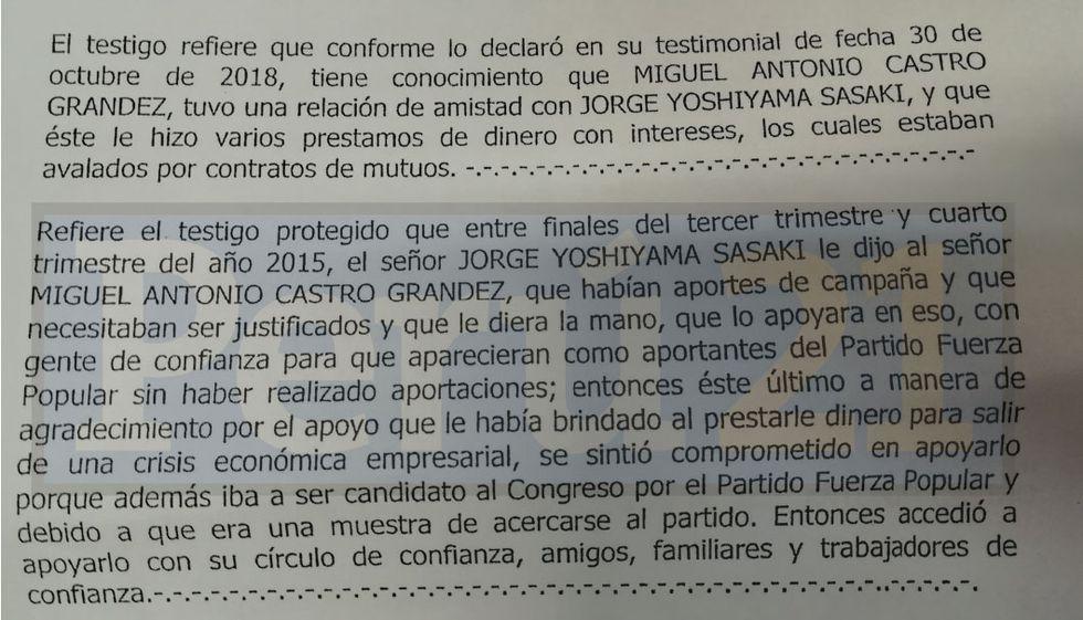 Jorge Yoshiyama era pieza clave en la red de aportantes de Fuerza Popular. (Perú21)