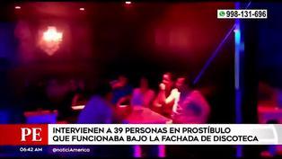 SMP: más de 30 personas son intervenidas en prostíbulo clandestino