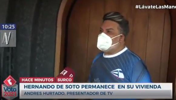 ChibolÍn conversa con Hernando de Soto tras elecciones 2021 (Captura TV).