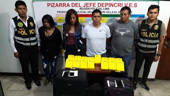 Se decomisaron más de 16 kilos de clorhidrato de cocaína. (Foto:PNP)