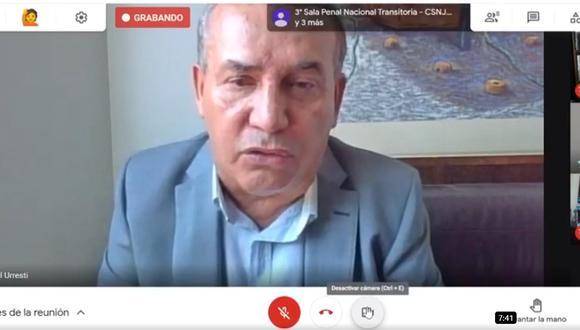 Juicio contra Daniel Urresti se realiza de forma virtual. (captura de pantalla)