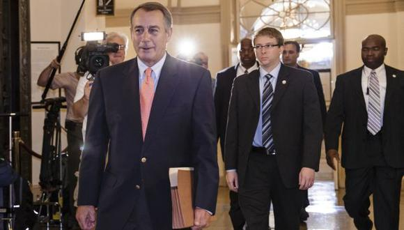 John  Boehner a su llegada al Capitolio. (AP)