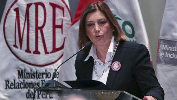Eda Rivas participó en evento realizado en la sede de la Cancillería. (Andina)