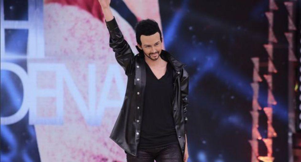 El Gran Show: Anahí de Cárdenas caracterizó a Ricky Martin con esta peculiar coreografía. (El Gran Show)
