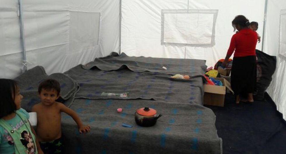 Aún hay campamentos de damnificados en la región Lambayeque.