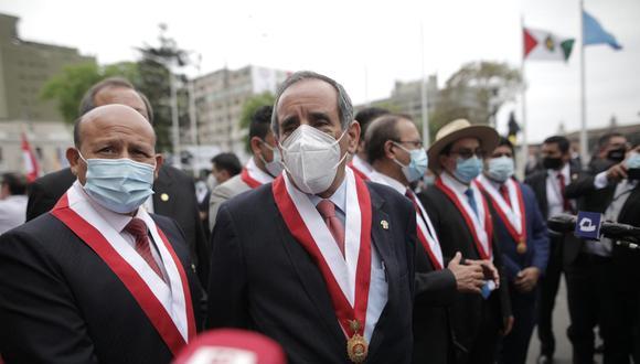 El vocero alterno de Acción Popular, Ricardo Burga, afirmó que se han descontextualizado sus comentarios. (Foto: Anthony Niño de Guzmán/@photo.gec)