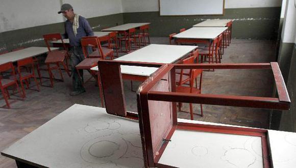 LLuvias afectaron infraestructura de varios colegios. (USI)