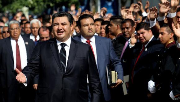 Naasón Joaquín García, líder de la iglesia La Luz del Mundo, fue detenido en Los Ángeles. (Foto: AFP)