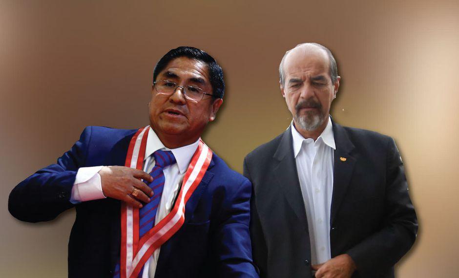 César Hinostroza y Mauricio Mulder coordinan para establecer una reunión. (Perú21)