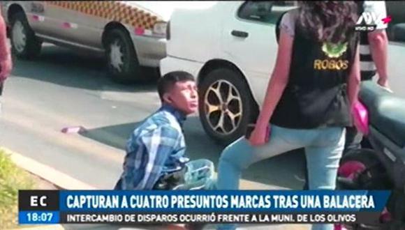El medio periodístico señaló que los detenidos pretendían asaltar a un gerente de un banco; sin embargo, su objetivo fue frustrado por los agentes. (Video: Captura de ATV+)