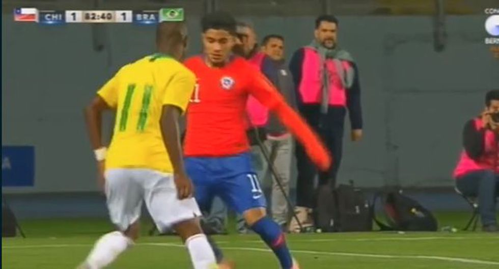 Vinicius Junior tuvo una gran participación en el amistoso Sub-20 entrre Brasil y Chile. (Captura: YouTube)