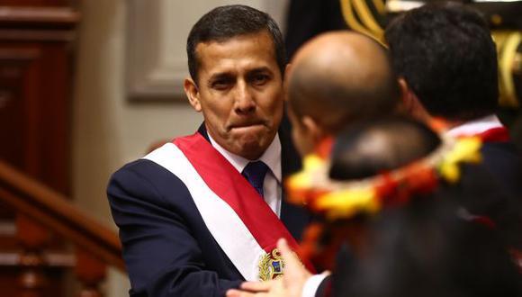 El presidente Humala inició su tercer año de mandato sin fijar metas claras en su política gubernamental. (Rafael Cornejo)