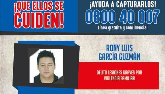 Ronny García: Mininter ofrece S/15 mil por paradero de cantante. (Mininter)