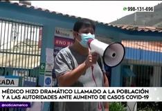 Huánuco: médico pide ayuda tras anunciar estar perdiendo la batalla contra la pandemia