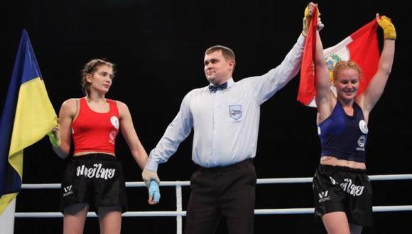 La 'Bala' Shevchenko celebra tras su triunfo. (Difusión)