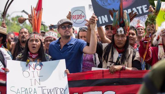 """""""Debemos continuar trabajando juntos y luchando por la justicia climática"""", señaló DiCaprio. (Twitter)"""