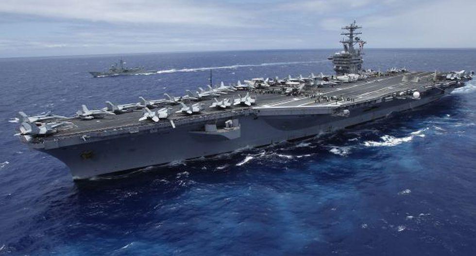 El portaaviones USS Nimitz ya se encuentra en el Mediterráneo. (Reuters)