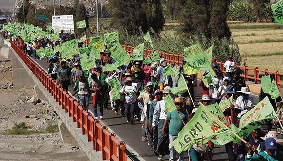 En sus trece. Agricultores no quieren operaciones mineras. (IdmeCruz/Perú21)
