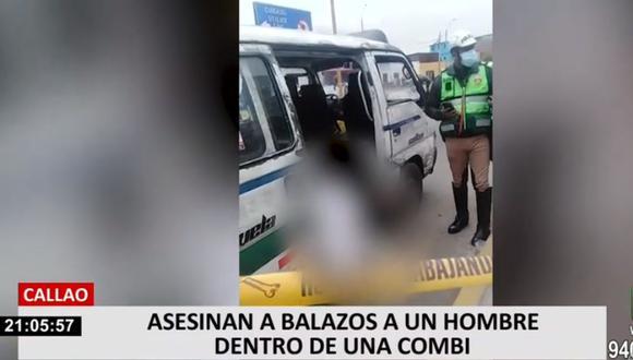 El crimen de Carlos Barrera Carazas fue perpetrado en el cruce de las avenidas José Gálvez con Alfonso Ugarte, en el Callao. (Foto: 24 Horas)