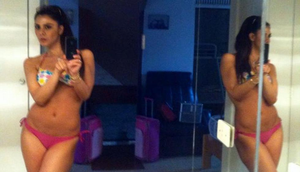 Claudia Abusada regala selfies traviesos a sus fans. (Facebook)