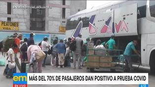 Reportan que el 70% de pasajeros de buses interprovinciales dan positivo a la COVID-19