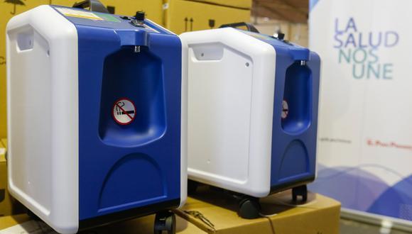 Los concentradores permiten producir hasta diez litros de oxígeno extraído del aire del ambiente través de un filtro especial. (Foto Minsa)