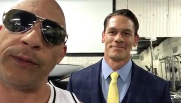 """El actor Vin Diesel confirmó la participación de John Cena en la franquicia """"Rápidos y Furiosos"""". (Foto: Captura de Instagram)"""