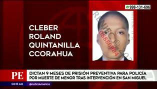 San Miguel: dictan prisión preventiva para uno de los policías que habría causado muerte de menor en persecución