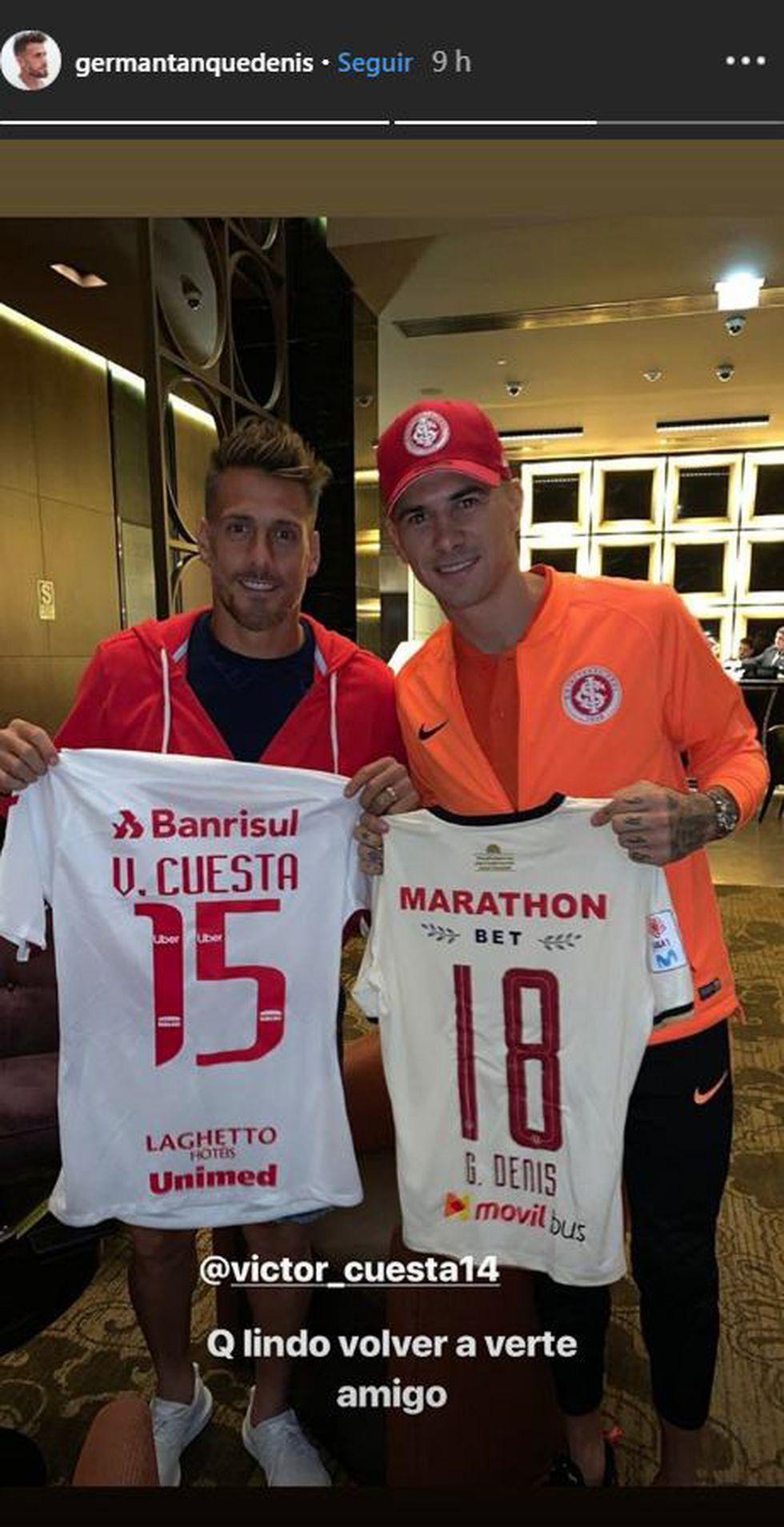 Germán Denis dedica un mensaje a Víctor Cuesta. (Foto: Captura de Instagram)