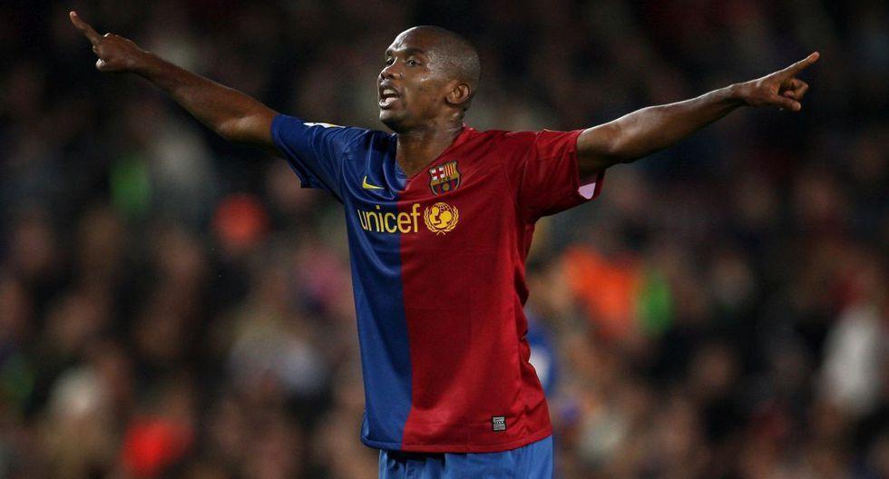 11.- Samuel Eto'o (FC Barcelona), en 38.8 millones de dólares. (Foto: Agencias)