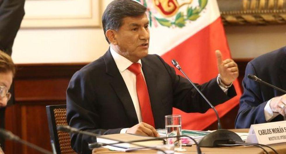 Carlos Morán sostuvo que los detenidos están en proceso de investigación y han sido separados de la institución. (Foto: Mininter)