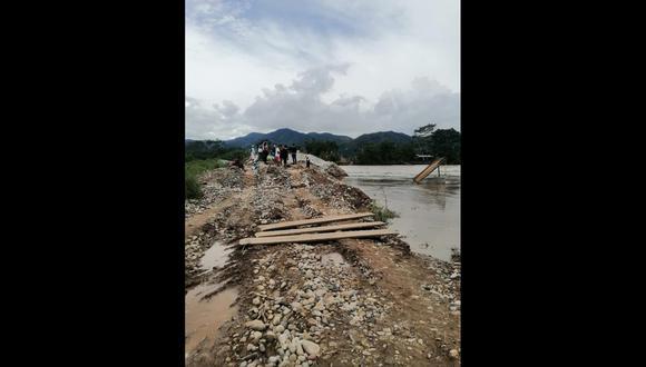 San Martín:  la embarcación donde viajaban los dos fallecidas fue desestabilizada por la fuerza de las turbulentas aguas. (Foto: Difusión)