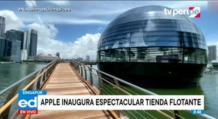 Apple inaugura su primera tienda flotante en la Marina Bay, Singapur