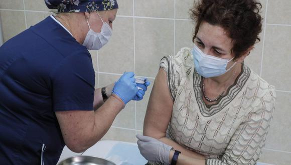 Jefa del Gabinete Ministerial, Violeta Bermúdez, expuso ante el Congreso las acciones a ejecutar en el marco de la pandemia por el COVID-19. (EFE/EPA/SERGEI ILNITSKY).