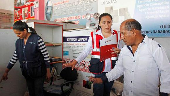 El personal de inspectores de Sunafil informó que verificó todas las condiciones de seguridad y salud en el trabajo de las agencias de las empresas de los buses. (Foto: Sunafil)